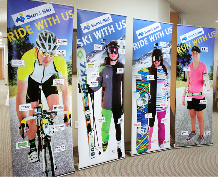 Ride with Us Banners