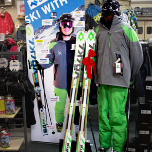 Ski with Us Display