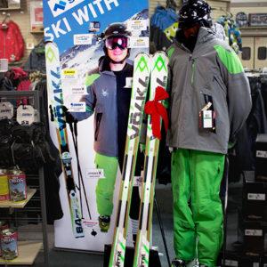 Ski with Us Display
