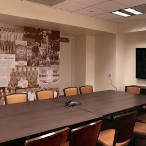 Winged O conference room exhibit